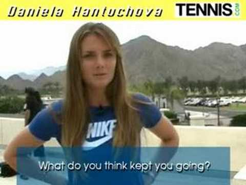 Daniela Hantuchova Interview IW 2008 Video