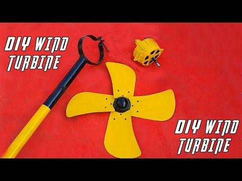 Homemade Free Energy Generator Took Place As Wind Turbine.DIY Wind Turbine Generator.
