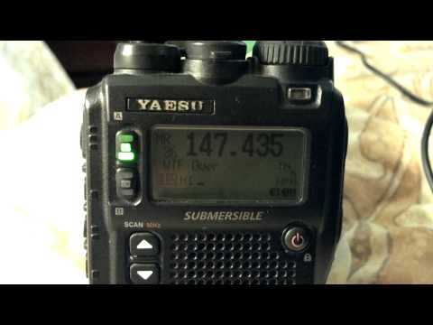 The notorious repeater on my handheld radio in Marina Del Rey.