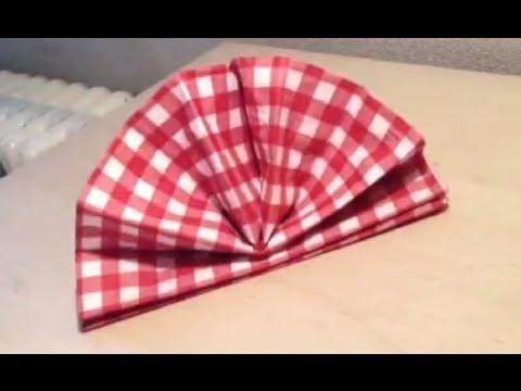 d corer une table pliage serviette ventail youtube. Black Bedroom Furniture Sets. Home Design Ideas