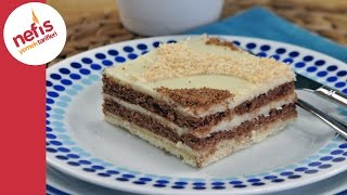 Yalanc Tavuk Gs ile Biskvili Pasta Yapm