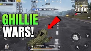 GHILLIE WARS! | Solo VS Squad | PUBG Mobile