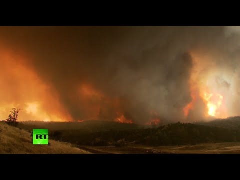Raging Inferno: Forests & woodlands engulfed in flames in California