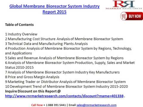 Global Membrane Bioreactor System Industry Research Report, Trends & 2020 Forecast Analysis