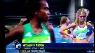 Genzebe Dibaba Wins 1500M Round 1 Heat 1