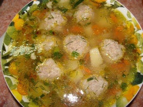Рецепт мужского супа с фрикадельками