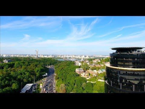 Kyiv aerial video 2017. Аэросъемка Киева с дрона.