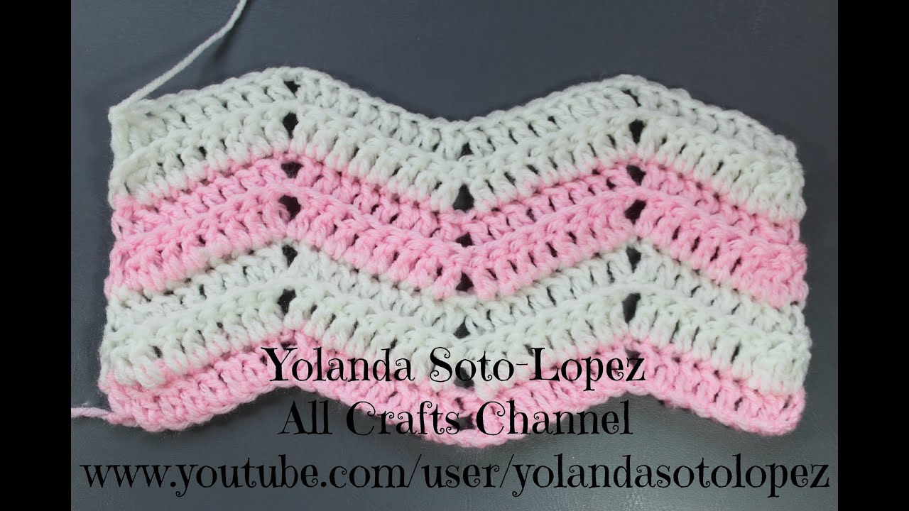 Crochet Afghan Patterns Youtube : Crochet Ripple Stitch (English) - YouTube