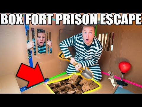 Download 24 HOUR BOX FORT PRISON ESCAPE ROOM!! 📦🚔 Digging A Secret UNDERGROUND Tunnel HD Mp4 3GP Video and MP3