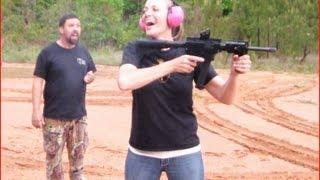 Woman Vs Man With FULL AUTO MACHINE GUN!!! Thureon Defense 9mm Carbine
