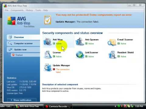 AVG Update Manager Error