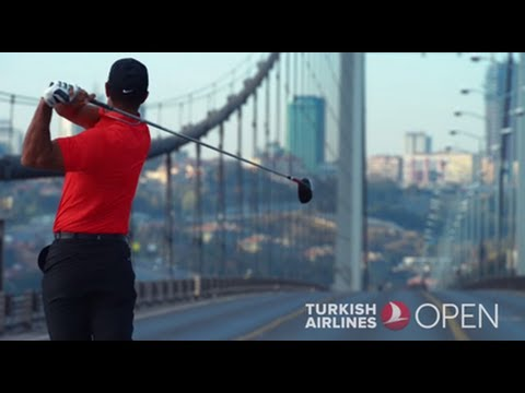 Tiger Woods hits first ever golf ball from Asia into Europe