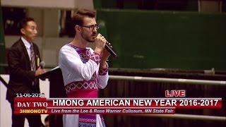 3 HMONG NEWS: Wameng Xiong sings a song by Tou Yang at Hmong American New Year 2016-2017.