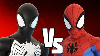 DISNEY INFINITY 3.0 VERSUS - REMATCH! Black Suit VS Spiderman | Marvel Battlegrounds