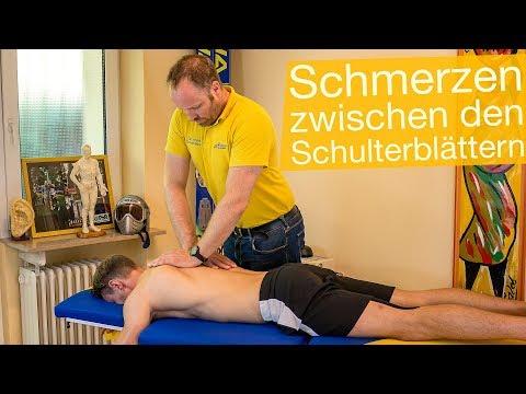 Schmerzen zwischen Schulterblättern ⚡️ Übungen, Untersuchung & Therapie