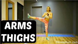 RU72 Super Set Workout 29 Minute Functional Arms And Full Body Exercises Challenging Home Workout