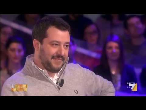 Matteo Salvini intervistato da Daria Bignardi [Le invasioni barbariche, 04/03/2015]