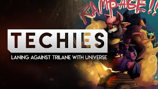 (TECHIES) Laning against Trilane with Universe. How to recover?