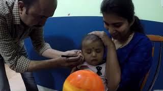 Dhita Shetty's ear piercing.Bangalore, India
