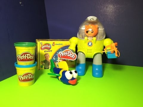 Play Doh Fishy with Disney Junior Octonauts How to Make Play Doh Fish Playset Toy