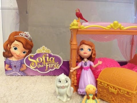 SOFIA THE FIRST Royal Bed Playset Design Unboxing and Review