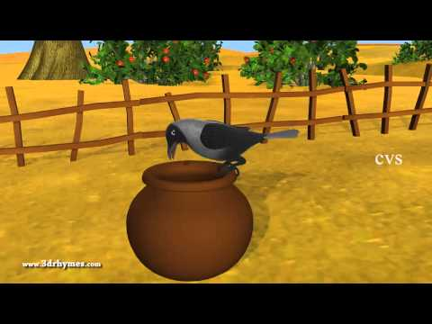 Ek Kauwa Pyaasa tha Poem - 3D Animation Hindi Nursery Rhymes...
