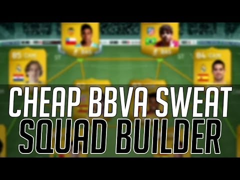 THE AFFORDABLE BBVA SWEAT SQUAD (CHEAP)   FIFA 14 Ultimate Team Squad Builder (FUT 14)