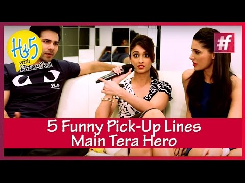 Varun, Ileana and Nargis share 5 funny Pick-up lines | Main Tera Hero