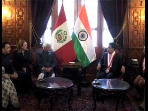 29 oct 2013 - India Signs Four Agreements With Peru
