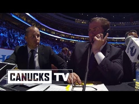 Jim Benning mic'd up at NHL draft table - All Access