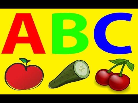 Alfabet Po Polsku Dla Dzieci - Owoce - Warzywa - Żywność - Nauka Literek