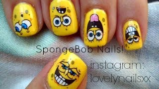 Lovelynailsxx ViYoutubecom - Spongebob nail decals