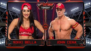 John Cena VS Nikki Bella - 1-vs-1 Backstage Brawl