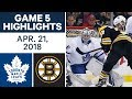 NHL Highlights | Maple Leafs vs. Bruins, Game 5 - Apr. 21, 2018 MP3