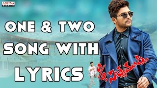One & Two & Three Full Song With Lyrics - S/o Satyamurthy Songs - Allu Arjun, Samantha, DSP