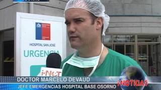 Priorizan emergencias en Hospital de Osorno