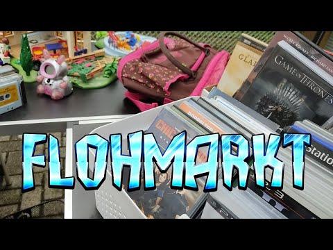 FLOHMARKT LIVE ACTION #46 Videogames, Spiele und ein echter Goblin / Dorfflohmarkt - Trödel Haul