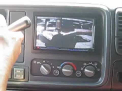 Reverse camera install using double din head unit
