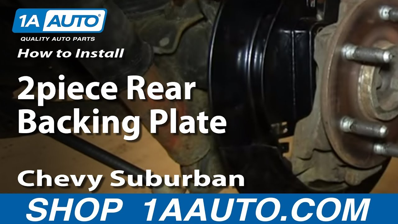 How To Install Replace 2piece Rear Backing Plate 200006
