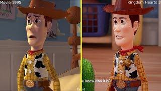 Kingdom Hearts III - Toy Story Game 2017 vs 1995 Movie Comparison