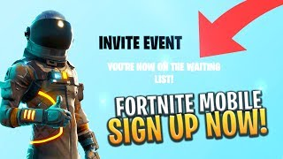 FORTNITE MOBILE HOW TO SIGN UP NOW! iOS/ANDROID + FREE CODES - Fortnite: Battle Royale