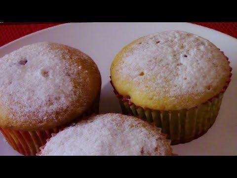 Кексы на кефире с ягодами.Вкусные,Нежные и ароматные.Простой рецепт.