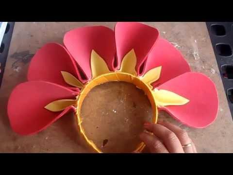 Disfraz flor diadema con petalos youtube - Como hacer diademas ...