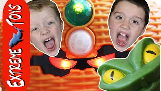 The Treasure of the Snake Game! Crazy Toy Snake Jumps at the Boys!