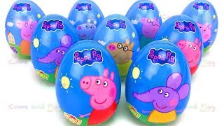 9 Peppa Pig and Friends Surprise Eggs with Blind Bag and Kinder Surprise