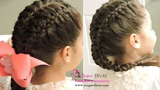 Peinado 3 Trenzas = Three braids in one