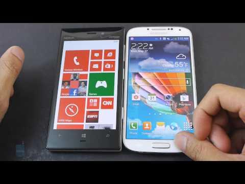 Nokia Lumia 928 vs Samsung Galaxy S4
