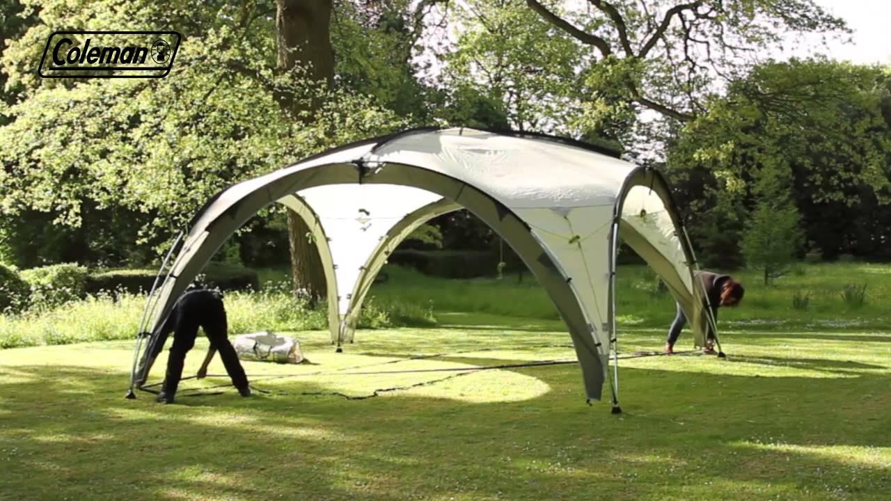 coleman event shelter deluxe youtube. Black Bedroom Furniture Sets. Home Design Ideas