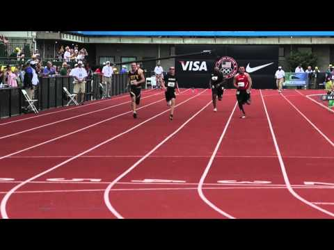 U S  Olympic Trials, Warrior 100-meter dash