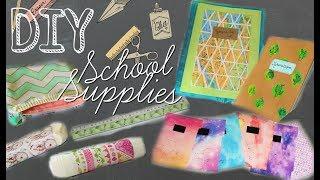 BACK TO SCHOOL DIY SCHOOL SUPPLIES -CréativeAddict-